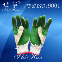 industrial safety working gloves cotton lined rubber gloves