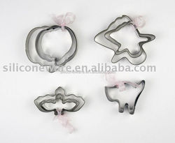 pumpkin or scary cat or bat or ghost shape stainless steel cookie cutters