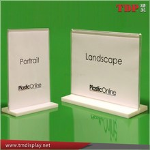 Manufacturer Supplies Elegant Acrylic Stand-up Sign Holders, White Acrylic Photo Picture Poster Frames