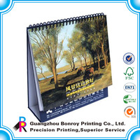 Wholesale full Color Printing 2014 Spiral desk calendars
