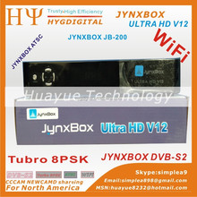 DVB-S2 Digital Satellite Receiver HGDVB Ultra hd v12 dual tuner and wifi adapter Ultra hd v12 set top box iks