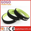 promotion custom dual layers & double colors silicone wristbands, Hot Selling Dual Layer Color filled Silicone Bracelet For Gift
