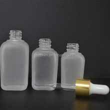 Cosmetics Transparent Square Bottle Wholesale Square Glass Dropper Bottle Aluminum Packing Airless Pump Bottle Mass Stock