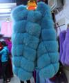 最新のデザインブルー卸売キツネの毛皮のベスト/高貴な冬のコートのデザイン2015/本物の青キツネの毛皮のチョッキ