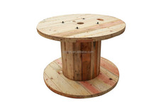 wooden cable reel