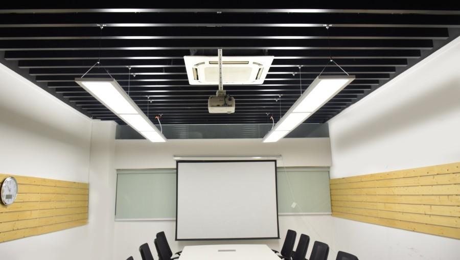 okt 1x4ft 54 w suspendu haut bas panneau lumineux led 45 uplight et 55 downlight voyants de. Black Bedroom Furniture Sets. Home Design Ideas