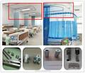 Krankenhaus bildschirm vorhang mit deckenmontage aluminium vorhangschiene