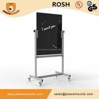 Top Quality 8mm Tempered Glass Black Paint Conference Hall School Classroom Non-glare Magnetic Mobile Glass Board