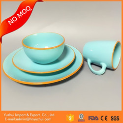 Made in China stoneware tableware, color glaze ceramic tableware, ceramic tableware set