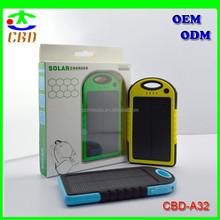 Solar Panel 5000mah Portable Backup Power Bank Pack Water Dust Resistant Dual USB Charger 5000mah Solar Battery