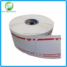 Easy peel off adhesive carton stickers, roll printing adhesive paper box label