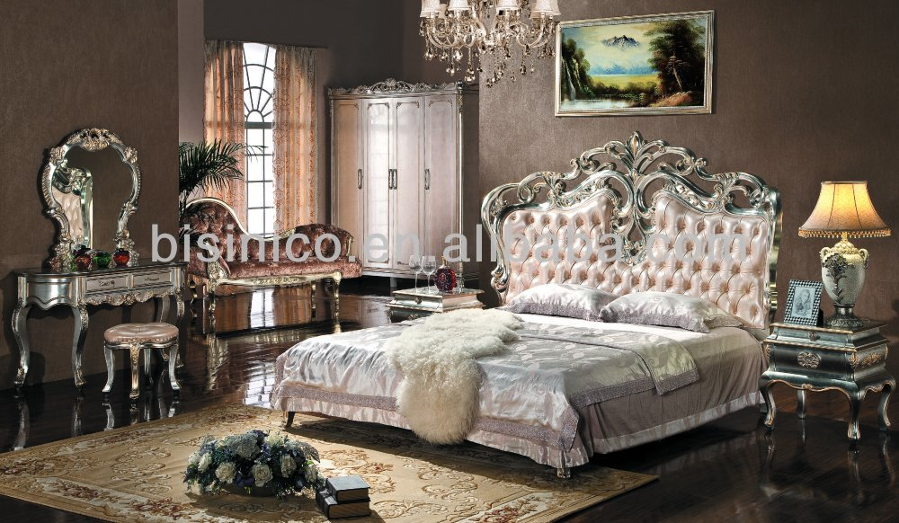 European Style Bedroom Furniture Set Upholstered Headboard Luxury King Size Bed Bf01 0193 Buy