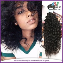 Human hair weave curly Collected from young and healthy ladies filipino full cuticles in the same direction