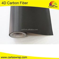 Carlas affordable wholesale 4d carbon fiber vinyl car sticker wrap