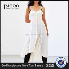 MGOO Custom Made Wholesale OEM/ODM White Women Dress Fashion Transparent Party Vestidos Plus Size Slip Dress #25106010