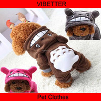 H107 newest Totoro design winter hoodies Hot Sale Wholesale Dog Clothes Cheap Good Quality Nice Design Pet Apparel & Accessorie