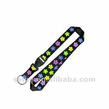 Customized lanyard with hot transfering printing n metal accessories and low MOQ