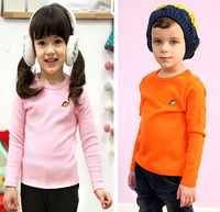 Z87783C 2015 autumn 100%cotton embroidery pull over children t-shirt