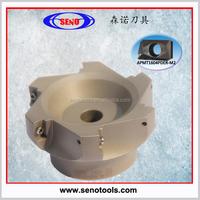 cnc lathe indexable face milling cutter for APMT milling tools