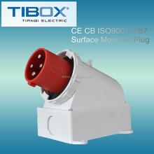 2015 Newly developed TIBOX fireproof waterproof multi pin plug sockets