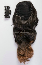5A grade Hair Extension Horse Tail Braid Hairpiece Long Curly Wave Light Blonde Claw Clip Ponytail for White Women