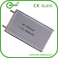 805085 Li-polymer 3.7v 4100mah lithium polymer battery