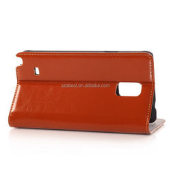 Top level best sell flip leather case for nokia lumia 630