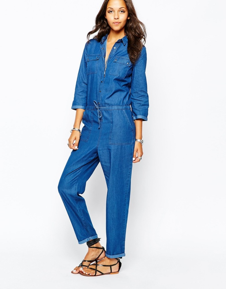 Popular GCAROL Women Ripped Denim Jumpsuits Casual Sexy Stretch Romper Ladiesu0026#39;Denim Pencil Overalls ...