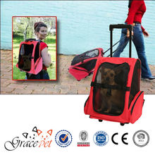 [Grace Pet] Rolling Backpack Travel Pet Carrier with wheel and trolley