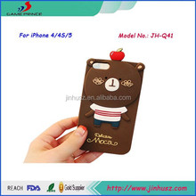 Hot Sale Lovely Bear Waterproof Silicone Soft Case for iPhone 4s/5s/6/6 Plus