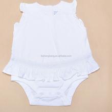 new design custom organic cotton girls chevron ruffle pant set BB051
