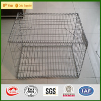 3''x3'' galvanized welded gabion baskets factory/welded gabion mesh,SGS report,low price