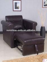 Hot Sell Single Leather PU Sofa Bed Furniture