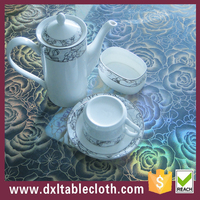 Wholesale crystal clear pvc film with new design emboss for table cover