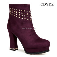 CDYDZ k0181 2015 red classic thick high-heeled medieval sexy hot ankle shoes for girls women 2015
