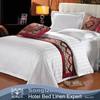 Plain White 100% Twill Cotton Sateen Sheet Set Used Hotel Bedding New Bed Sheet Design