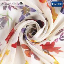 custom printed silk fabrics factory