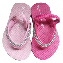 2015 shining jewel cute girls flip flop Fashion baby pink EVA flip flop