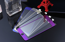 electroplating mirror tempered glass screen protector film for iPhone 4
