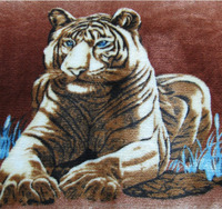 Wholesale tiger printing flannel fabric for bedding