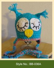 BB-036A pretty kids warm knit hat with earflap