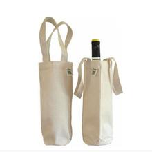 hot sale wine canvas wine bag with custom logo and artwork printing