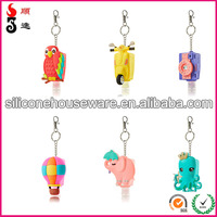 STOCKED Lovely 3D Animal Waterless Instant Alcohol Hand Gel Pocket Antibacterial Silicone Holders