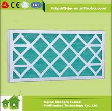 JW Aluminum/galvanized steel/cardboard primary fiberglass panel filter G3 G4
