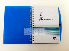 Spiral notebook with custom brand printing for gift