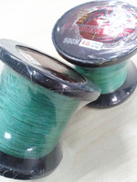Wholesale 100% fluoro carbon Spider King 500M fishing lines green 4# high quality lines with standard 8 braids
