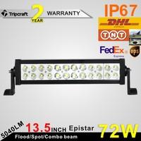 Good quality! 72w AUTO LED LIGHT 12v 24v Truck SUV Boat 4X4 4WD ATV LED Bar