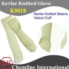 corte de kevlar resistentes de punto de manga con velcro