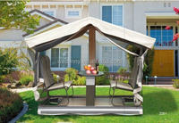Outdoor wrought iron gazebo swing sets for adults