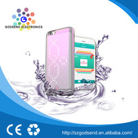 Hot sales DIY intelligent LED waterproof mobile phone case for iphone 6s
